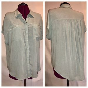 NWT Lucky Brand Button Down Top